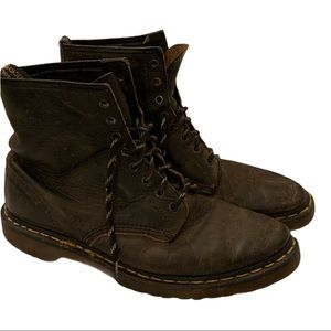 Dr. Martens brown leather combat boots size 12 90s